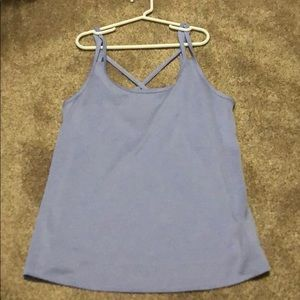 Purple work out top